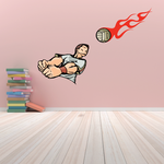 Volleyball Wall Decal - Vinyl Decal - Car Decal - CDS030