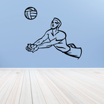Volleyball Wall Decal - Vinyl Decal - Car Decal - CDS033