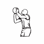 Basketball Wall Decal - Vinyl Decal - Car Decal - DC 008