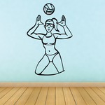 Volleyball Wall Decal - Vinyl Decal - Car Decal - CDS034