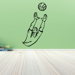 Volleyball Wall Decal - Vinyl Decal - Car Decal - CDS035