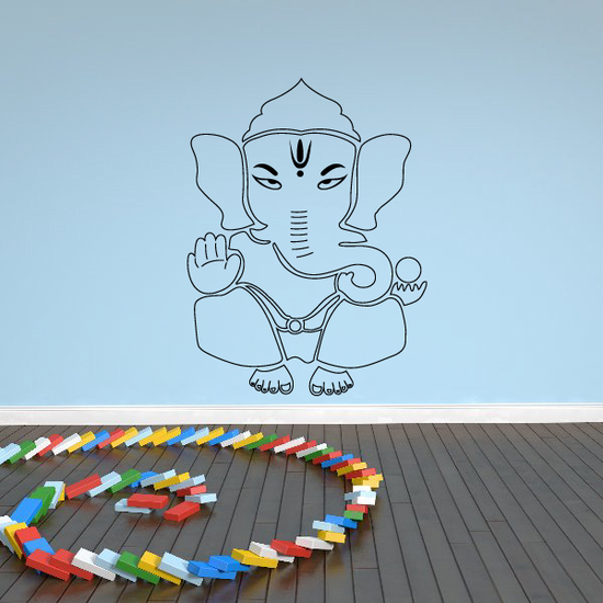 Lord Ganesh thin outline Decal