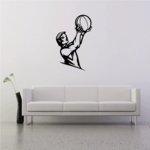Basketball Wall Decal - Vinyl Decal - Car Decal - CDS012