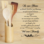 In our home we thank god for our blessings Wall Decal