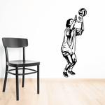 Volleyball Wall Decal - Vinyl Decal - Car Decal - CDS042