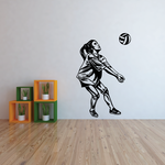 Volleyball Wall Decal - Vinyl Decal - Car Decal - CDS044