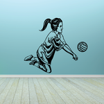 Volleyball Wall Decal - Vinyl Decal - Car Decal - CDS046
