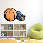 Basketball Wall Decal - Vinyl Sticker - Car Sticker - Die Cut Sticker - CDScolor073
