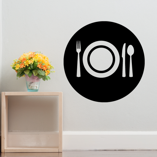 Placemat Setting Plate Fork Knife and Spoon Decal