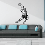 Volleyball Wall Decal - Vinyl Decal - Car Decal - CDS049