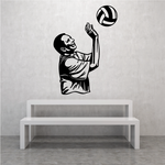 Volleyball Wall Decal - Vinyl Decal - Car Decal - CDS052