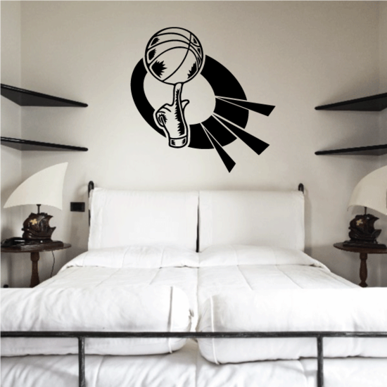 Basketball Wall Decal - Vinyl Decal - Car Decal - CDS126