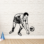 Volleyball Wall Decal - Vinyl Decal - Car Decal - CDS056