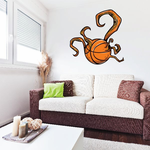 Tentacle Basketball Wall Decal - Vinyl Car Sticker - Uscolor005