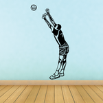 Volleyball Wall Decal - Vinyl Decal - Car Decal - CDS057