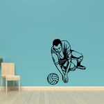 Volleyball Wall Decal - Vinyl Decal - Car Decal - CDS058