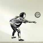 Volleyball Wall Decal - Vinyl Decal - Car Decal - CDS060
