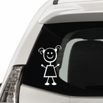Girl with Small Pigtail Hair Decal