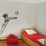 Volleyball Wall Decal - Vinyl Decal - Car Decal - CDS070