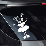 Girl with Small Pigtail Hair in Dress Decal