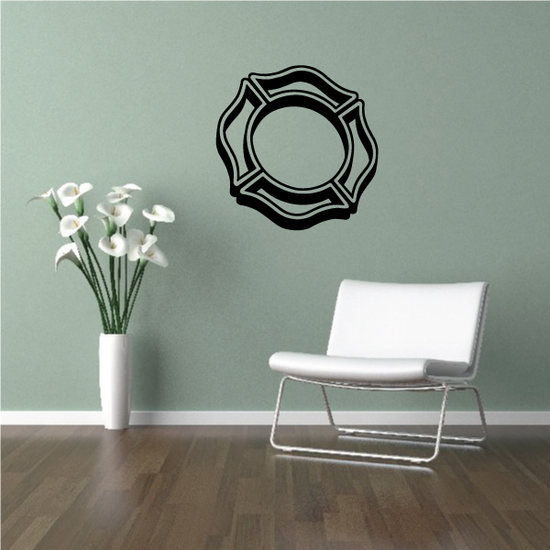 3D Maltese Cross Decal