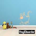 Kitty Cat Cartoon Decal