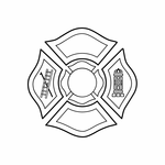 Firefigther Crest Decal