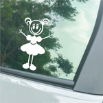 Girl with Small Pigtails and Arms Out Decal