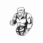 Basketball Wall Decal - Vinyl Decal - Car Decal - DC 017