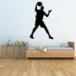 Basketball Give and Go Player Decal