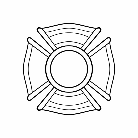 Fire Template Decal