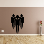 Three Business Men Business Icon Wall Decal - Vinyl Decal - Car Decal - Id009