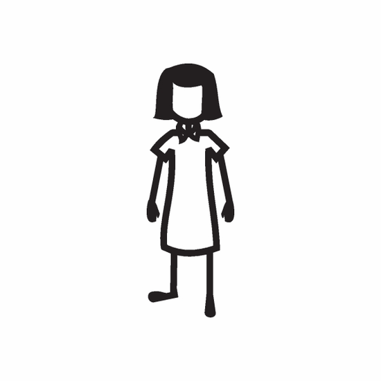 Arms Down Girl Decal