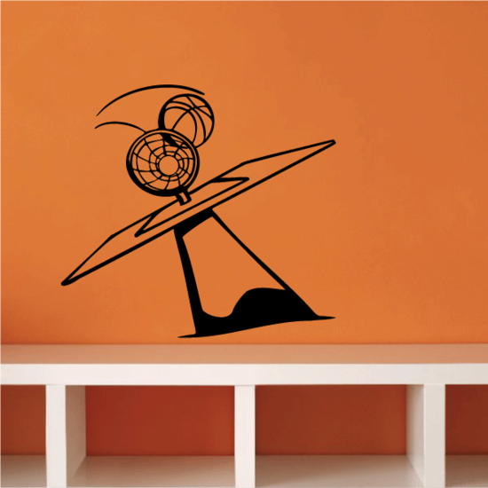 Basketball Wall Decal - Vinyl Decal - Car Decal - CDS013