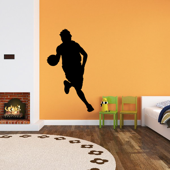 Basketball Dribble Run with Ball Decal