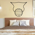 Volleyball Wall Decal - Vinyl Decal - Car Decal - CDS087