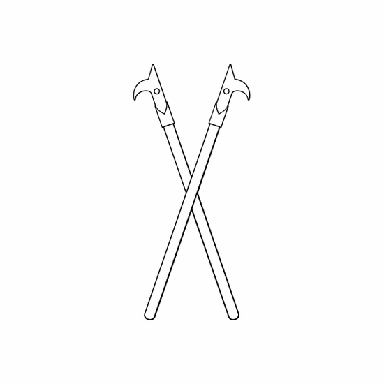 Crossed Fireman Hooks Decal