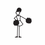 Cheerleading Girl Left Arm Out Decal
