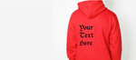 Custom Text on Apparel