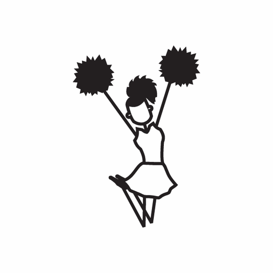 Cheerleading Girl Jumping Up Decal