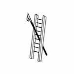 Firemen ladder and pike tool Decal