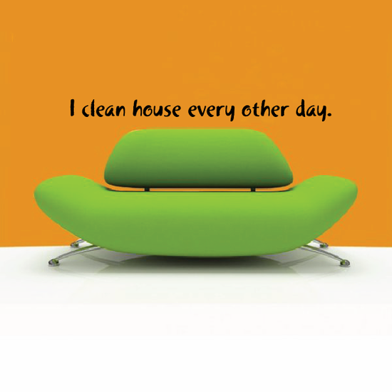 I clean house every other day Wall Decal