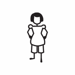 Girl with Hands on Hips Decal