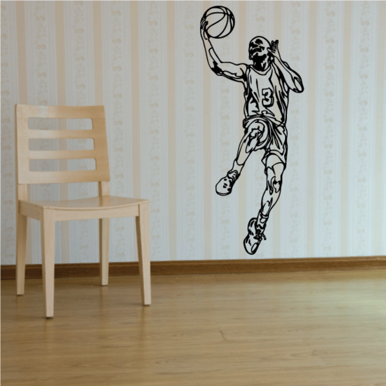 Basketball Wall Decal - Vinyl Decal - Car Decal - CDS076