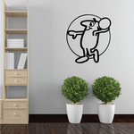 Volleyball Wall Decal - Vinyl Decal - Car Decal - Bl011