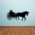 Chariot Driving Horse Decal