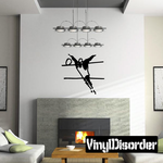 Volleyball Wall Decal - Vinyl Decal - Car Decal - Bl017