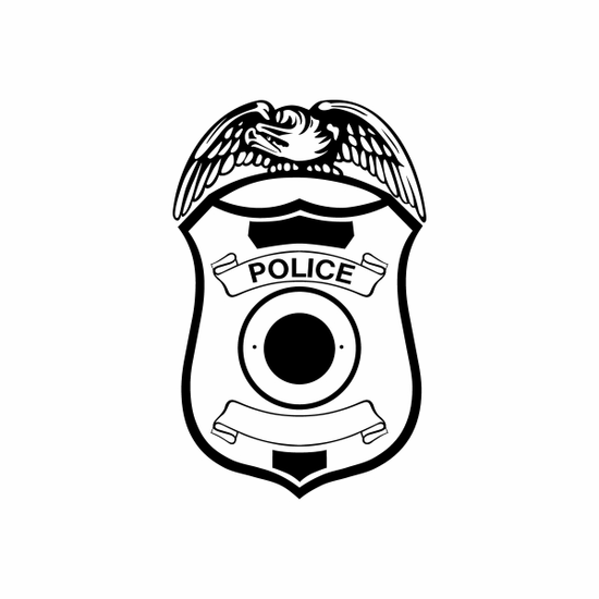 Police Badge Decal