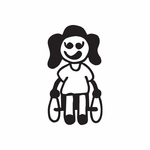 Girl in Wheelchair Decal
