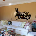 Happy Birthday Exclamation Presents Decal